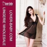 Black Chemise Woman Night Lingerie (L27978-1)