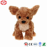 Chihuahua Brushed Plush Brown Quality Standing Stuffed Dog Toy
