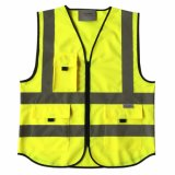 High Visibility Work Wear Reflective Safety Vest Pockets