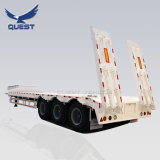 3 Axle 80 Ton Heavy Duty Gooseneck Low Loader/Lowbed/ Lowboy Low Bed Trailer Price Truck Semi Trailers for Excavator Transport