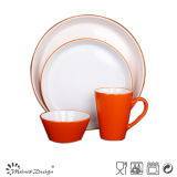 GLOSSY GLAZE OV SHAPE 16PCS HOUSEHOLD DINNERWARE SET