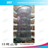 Transparent Mesh Full Color LED Display for Curved Curtain