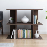 Simple Brown Bookcase Without Backpanel