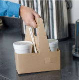 Factory Custom Wholesale Cheap Blank Kraft Paper Coffee Cup Holder