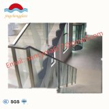 Chinese Modern Stair Balcony Tempered Glass Handrail / Stainless Steel /Wood Stair Glass Railing