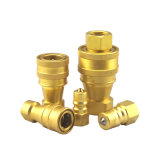 ISO 7241-1A Brass Fitting Hydraulic Quick Coupling