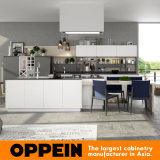 Oppein Modern White Gray Matte Lacquer Wooden Kitchen Cabinet (OP16-L18)