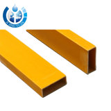 FRP Rectangular Tube 20mm to 110mm Dimensions and Customer Demand Surface Treatment Flexible Rectangular Plastic Tube