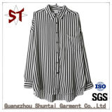 Wholesale Polo Collar  Ladies Stripes Shirts