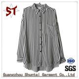 Wholesale Polo Collar Ladies Stripes Shirts