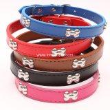 China Pet Supply Product Cheap PU accessory Bone Dog Collar