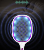 Electric Large Bug Zapper Racket, Mosquito Killer, Fruit Fly Swatter Zap, Pest Control, USB Rechargeable, LED Lighting, Unique 3 Layer Safety Mesh S