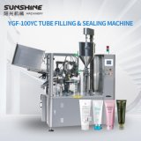 PLC Controlled Automatic Rotary Type Plastic Tube Paste Hair Gel Hand Cream Body Lotion Toothpaste Ointment Face Wash Sun Cream Filling and Sealing Machine