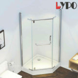 Sanitary Ware Bathroom Diamond Shape Frameless Shower Enclosure Hinge Door