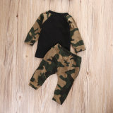 Winter Fashion Raglan Long Sleeve Camouflage Set Baby Clothes