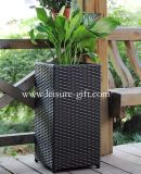 Fo-9405 Square Rattan Flower Pot for Garden