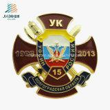 Factory Wholesale Casting Enamel Engraved Metal Military Souvenir Badges