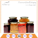Hex Glass Jars with Metal Cap for Jam, Sauce, Jelly, Salsa′s Packaging