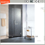 Silk Screening & Acid Etched Glass Shower Panel