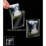 Clear Acrylic Photo Picture Frame with Magnet (BTR-U1028)