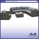 Outdoor Furniture Patio Wicker Sofa Set Flat Wicker Alum Sofa (J432)