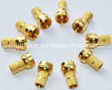 Gold Plated, Rg59 F Plug Connector
