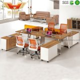 Open Plan Office Cubicle Straight Panel Wooden Workstation (H30-0236)