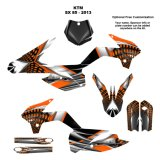 Customized PVC Label Printing Vinyl Sticker, Dirt Bike Decal (HX-DD-02)