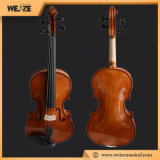 Shine Yellow Brown Color Solid Wood Viola
