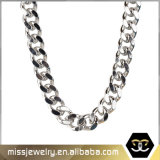 Fashion Jewelry Silver Plated Simple Design Chain Necklace for Man