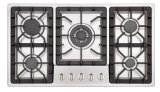 Good Price Built in 5 Burner Glass Panel Iron Cast Gas Stove/Gas Hob/Gas Cooker