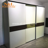 New Modern Style Bedroom Furniture Wooden Folding Fabric Wardrobe