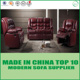 Newest Luxury Home Furniture Red Genuine Leather Recliner Sofa