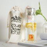 Sport Bottle, 450ml 550ml Custom Logo Glass Tea Infuser Water Bottle Stainless Steel Fruit Filter with Reasonable Price for Office Lady