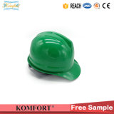 Green ABS Head Protection Work Construction Helmet ANSI (JMC-323Q)