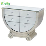 Venetian Mirror and Antique Silver Grecian Style Chest of Drawers/Console Table