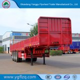 2018 High Quality Tri/3 Axle Side Wall/Plate Semi Trailer for Cargo Transport