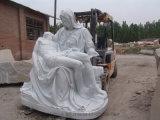 Yellow/White Marble Garden Sculpture Animal Statue Religious Stone Statue