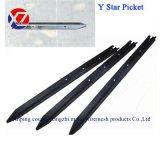 1.65/1.8/2.1/2.4mblack Bitumen Australia Star Picket Y Post