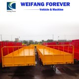 Used 20/40FT 3 Axle Container Flat Bed/Skeleton/ Side Wall/Side Fence /Side Board/Utility Cargo/Multi-Function Cargo/Cattle Livestock Wholesale Tractor Trailers