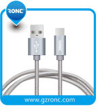 1m 2.4A Nylon Braided USB2.0 Type-C Cable for Mobile Phone
