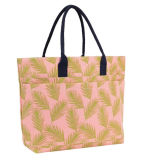 Summer Tote Bag Canvas Material Tropical Design Lady
