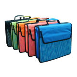 Assorted Zipper Binder 3 Ring Binder 4-Pocket Expanding File