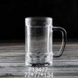 400ml 14oz Glass Cup Glassware High Quality Wholesale Price High White Material Hot Sales Classic Large Beer Glass Mug with Handle (P13477)