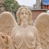 Marble Carving Angel Statue Tombstone (GSME-131)