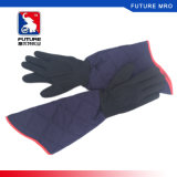 Cotton Aramid 40cm Length Waterproof Heat Insulated Oven Gloves for BBQ Cooking