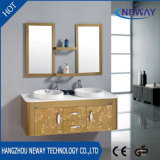 Wall Waterproof Steel Double Bathroom Washbasin Cabinet