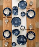 Charming Metro Reactive Series - Spiral Genre Dinner Set