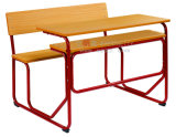 Popular Connected School Student Double Desk & Chair Sf-07D2