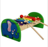 Children Wooden Toys Hand Piano Two Drums
